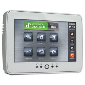 Residential burglar alarm wall mounted control panel.